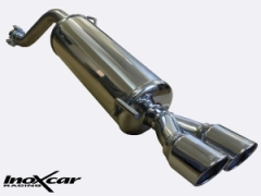Inoxcar rear silencer 2x 80mm round X-Race